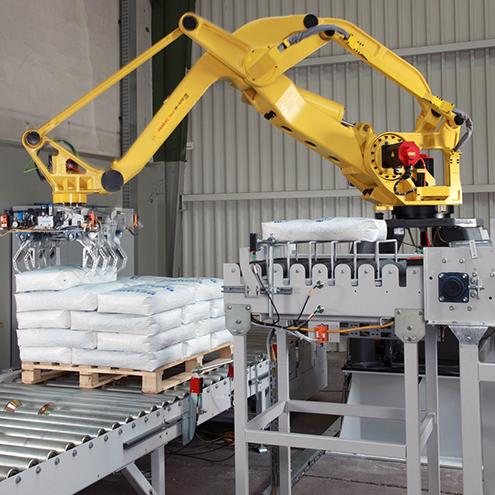 רובוט ממשטח סידור שקים