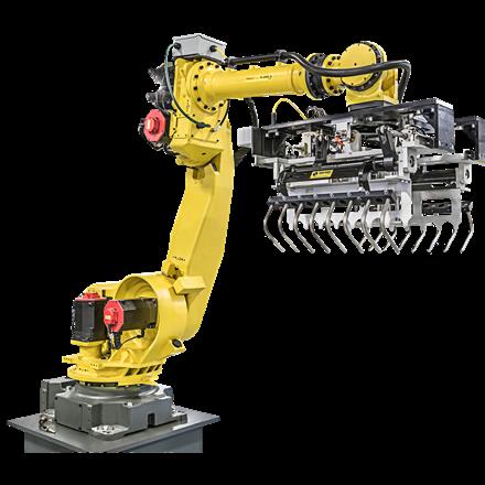 רובוט עם גריפר לתפיסת שקים