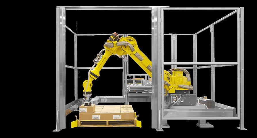 רובוט לסידור קרטונים קופסאות חלקים