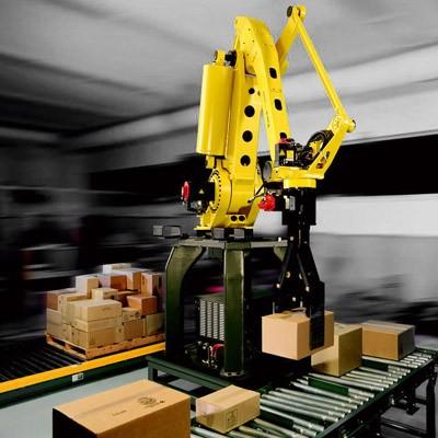 רובוט סידור ומיון קופסאות שונות