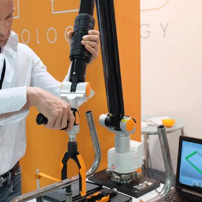 מדידת צינור זרוע מדידה מידול מידות צינור מכופף