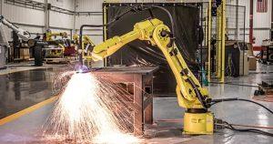 רובוט חיתוך פלזמה fanuc robot cutting plasma