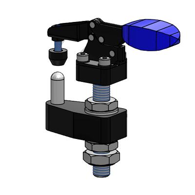 מתקן דפינה למכונת מדידה CAD מודל model תיבמ