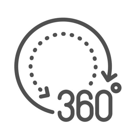 360 מעלות כל הצירים 7 צירים 6 צירים קובוט רובוט UR3 UR5 UR10