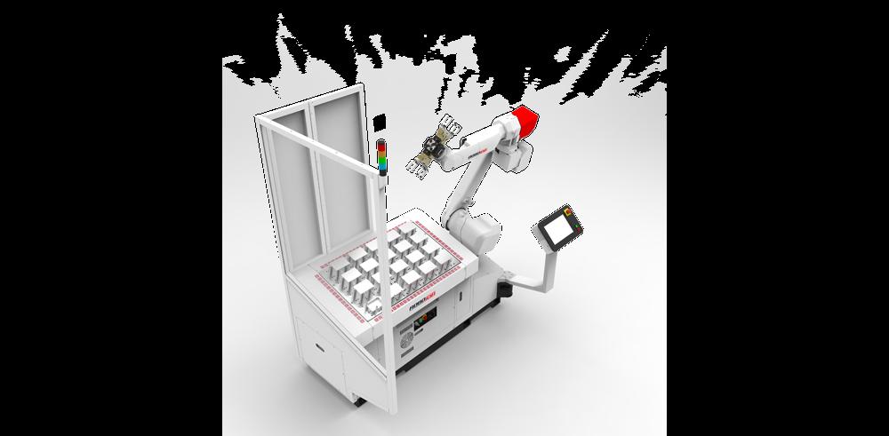 רובוט טעינת מכונה החלפת חלקים CNC עיבוד שבבי מגש גריפר כפול