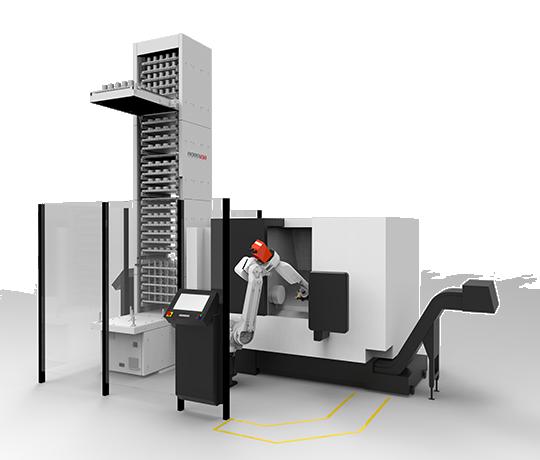ROBOJOB TOWER CELLRO HALTER REOWA LOCADING CNC