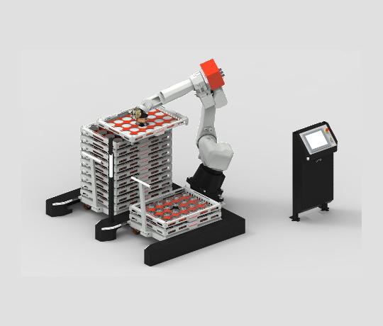 טעינה רובוט מכונת CNC כרסומת מדפים משטחים מגשים