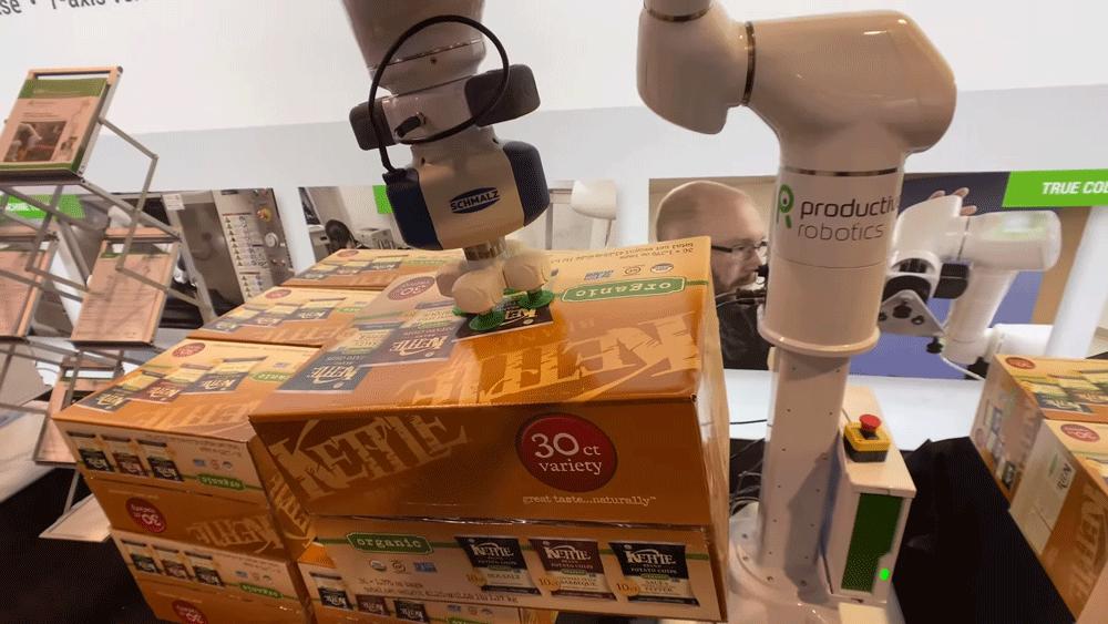 קובוט רובוט משטוח משטחים מילוי אוטומטי סידור אריזה