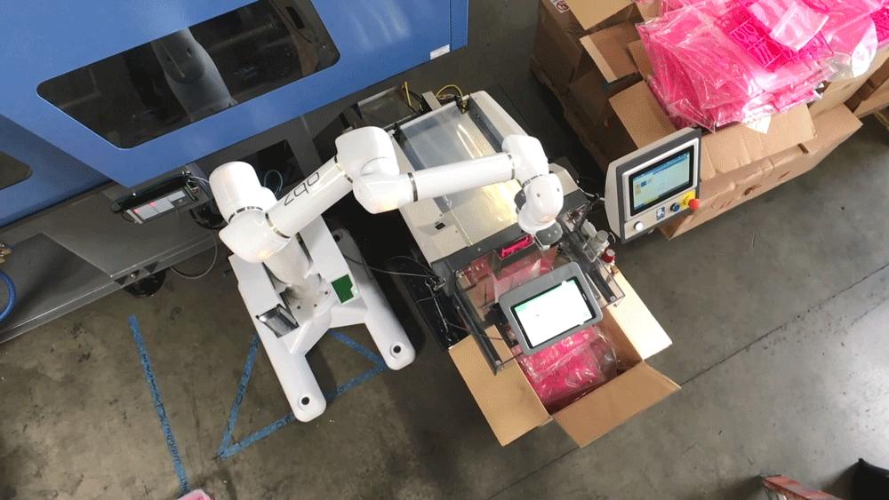 פריקה אוטומטית מכונת הזרקת פלסטיק רובוט קובוט
