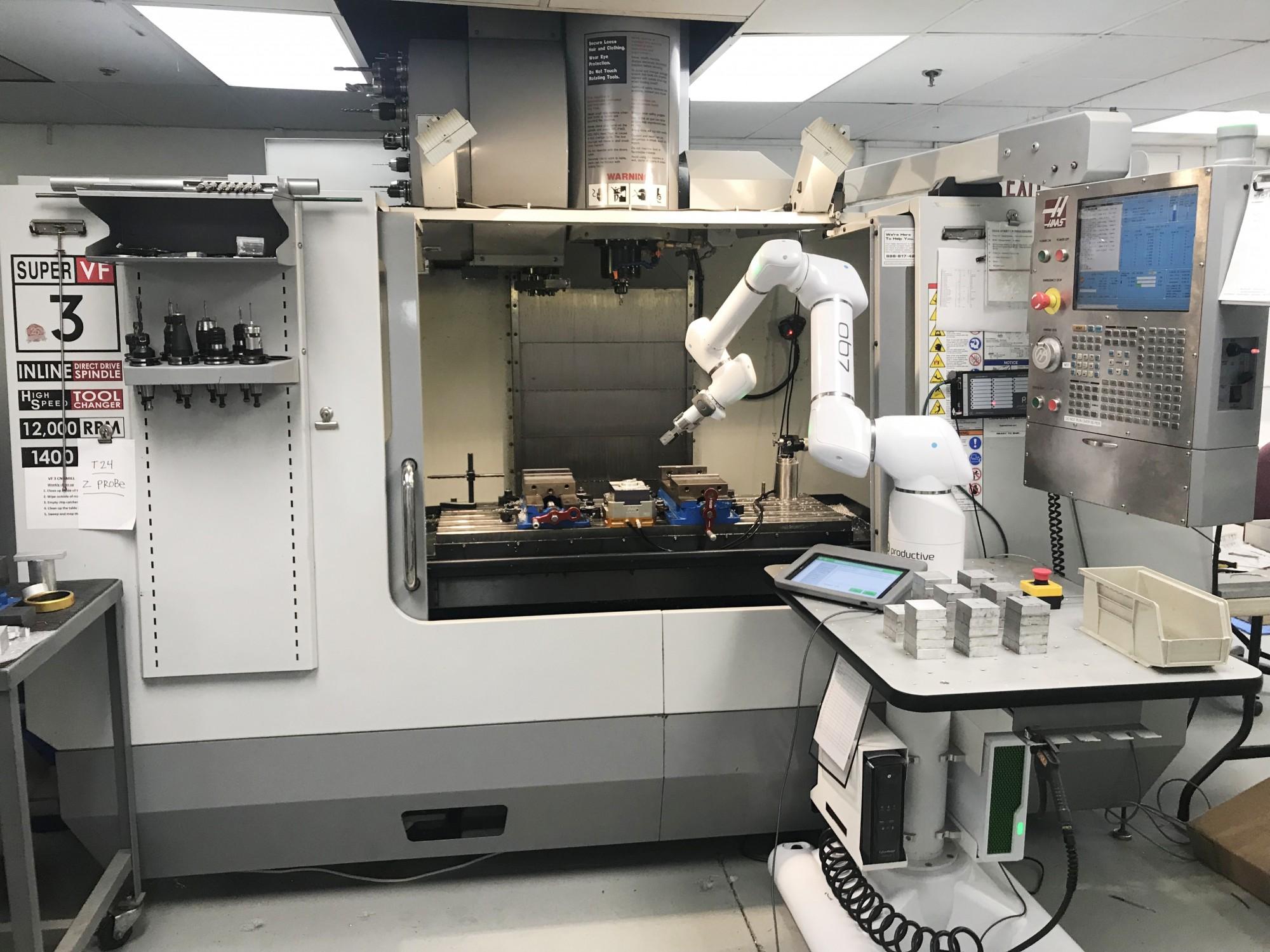 טעינה אוטומטית רובוט קובוט מכונת CNC כרסומת מחרטה
