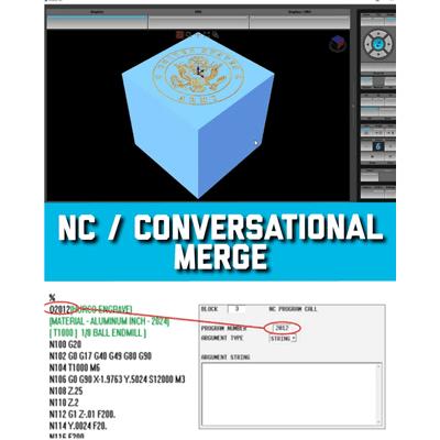 nc merge שילוב g-code CAM NC תוכנית קובץ עם HURCO HAAS