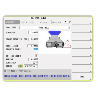 הגדרת כלים כרסומים כרסום כרסומת CNC עיבוד שבבי מידות HAAS HURCO